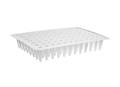 Axygen® 96-well Flat Top Polypropylene PCR Microplate, No Skirt, Clear, Nonsterile