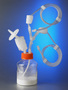 Disposable 45 mm Aseptic Transfer Cap for 100 g Microcarriers Bottles, MPC, Sterile