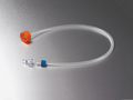 Corning® 33 mm Polyethylene Filling Cap with 1/4 (6.4 mm) ID Tubing with a Male MPC Coupling and a Female MPC End Cap