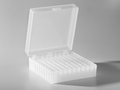 Axygen® Microcentrifuge Tube Storage Box, 100 x 1.5 to 2.0 mL, Natural