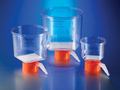 Corning® 150 mL Bottle Top Vacuum Filter, 0.45 µm Pore 13.6cm² CA Membrane, Fits 33 mm Diameter Necks, Sterile, 48/Case