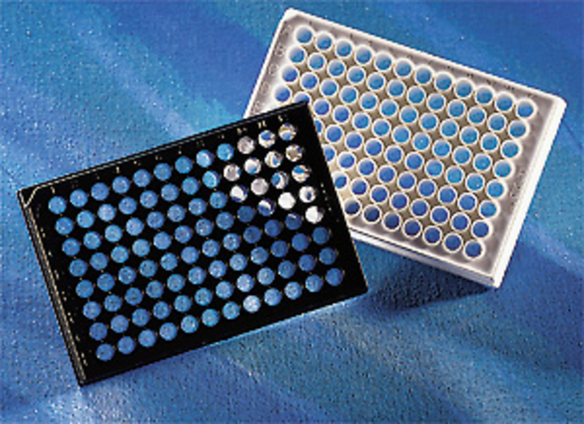 CorningR 96 Well Black Clear Flat Bottom Polystyrene High Bind Microplate 25