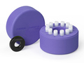 Corning® CoolCell® LX, Cell Freezing Container, for 12 x 1 mL or 2 mL Cryogenic Vials, Purple