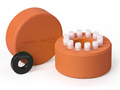 Corning® CoolCell® LX, Cell Freezing Container, for 12 x 1 mL or 2 mL Cryogenic Vials, Orange