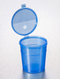 Corning® Gosselin™ Straight Container, 300 mL, Blue PP, Graduated, Blue Hinged cap, 240/Case