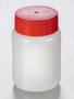 Corning® Gosselin™ Round HDPE Bottle, 100 mL, 37 mm Red Cap with Seal, Assembled, Sterile, 335/Case