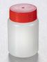 Corning® Gosselin™ Round HDPE Bottle, 100 mL, 37 mm Red Cap, Assembled, 335/Case