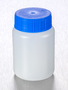 Corning® Gosselin™ Round HDPE Bottle, 100 mL, 37 mm Blue Cap, Assembled, 335/Case