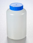 Corning® Gosselin™ Round HDPE Bottle, 1 L, 58 mm Blue Cap with Seal, Assembled, 68/Case