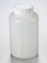 Corning® Gosselin™ Round HDPE Bottle, 1 L, 58 mm White Cap with Seal, Assembled, 68/Case