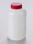 Corning® Gosselin™ Round HDPE Bottle, 2 L, 57 mm Red Cap with Seal, Assembled, 25/Case