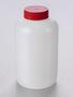 Corning® Gosselin™ Round HDPE Bottle, 2 L, 57 mm Red Cap, Assembled, 25/Case