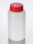 Corning® Gosselin™ Round HDPE Bottle, 250 mL, 37 mm Red Cap with Seal, Assembled, 145/Case