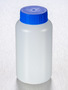 Corning® Gosselin™ Round HDPE Bottle, 250 mL, 37 mm Blue Cap, Assembled, 145/Case