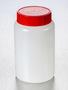 Corning® Gosselin™ Round HDPE Bottle, 500 mL, 58 mm Red Cap, Assembled, 140/Case
