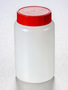 Corning® Gosselin™ Round HDPE Bottle, 500 mL, 58 mm Red Cap with Wad, Assembled, 140/Case