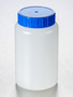 Corning® Gosselin™ Round HDPE Bottle, 500 mL, 58 mm Blue Cap with Seal, Assembled, 140/Case
