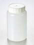 Corning® Gosselin™ Round HDPE Bottle, 500 mL, 58 mm White Cap with Seal, Non-assembled, 135/Case