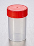 Corning® Gosselin™ Straight Container, 200 mL, PP, Red Screw Cap, Assembled, 162/Case