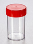 Corning® Gosselin™ Straight Container, 200 mL, PS, Red Screw Cap, Assembled, Sterile, 162/Case