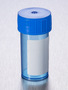 Corning® Gosselin™ Straight Container, 40 mL, Blue PP with White Label, Blue Screw Cap, Assembled, Sterile, 100/Bag, 1000/Case