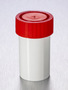 Corning® Gosselin™ Straight Container, 60 mL, White PP with White Spoon, Red Screw Cap, Assembled, Sterile, 70/Bag, 700/Case
