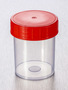Corning® Gosselin™ Straight Container, 125 mL, PP, Red Screw Cap, Assembled, 380/Case
