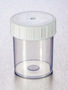 Corning® Gosselin™ Straight Container, 125 mL, PP, White Screw Cap, Assembled, 380/Case