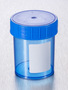 Corning® Gosselin™ Straight Container, 125 mL, Blue PP with White Label, Blue Screw Cap, Assembled, Sterile, 380/Case