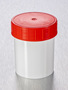 Corning® Gosselin™ Straight Container, 125 mL, White PP, Red Screw Cap, Assembled, 380/Case