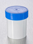 Corning® Gosselin™ Straight Container, 125 mL, White PP, Blue Screw Cap, Assembled, 380/Case
