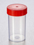 Corning® Gosselin™ Straight Container, 180 mL, PP, Red Screw Cap, Assembled, 264/Case