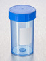 Corning® Gosselin™ Straight Container, 180 mL, Blue PP with White Label, Blue Screw Cap, Assembled, Sterile, 264/Case