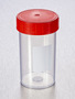 Corning® Gosselin™ Straight Container, 180 mL, PP with White Label, Red Screw Cap, Assembled, Sterile, 264/Case