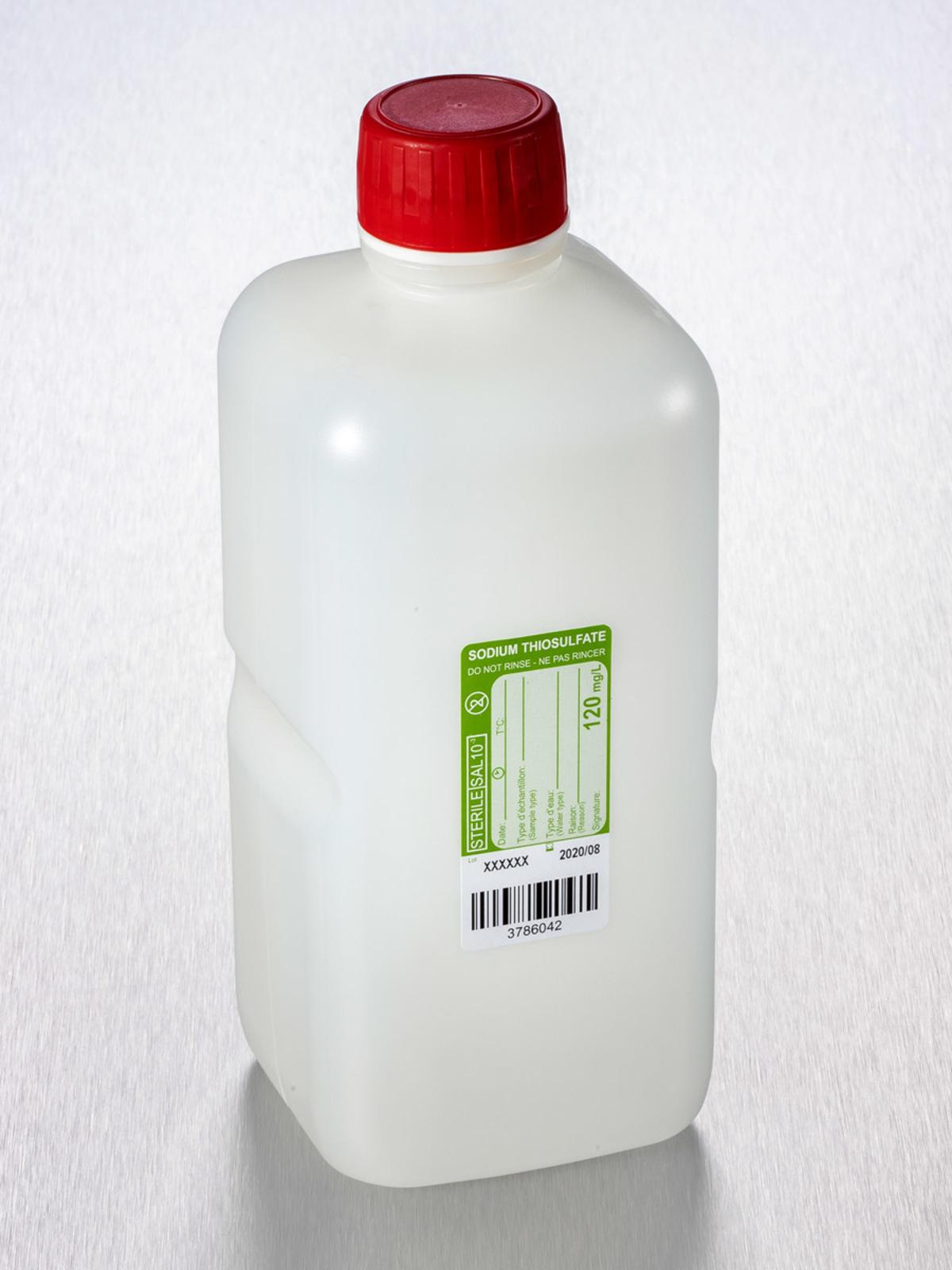 Corning® Gosselin™ Water Sampling Square HDPE Bottle, 1 L, Graduated