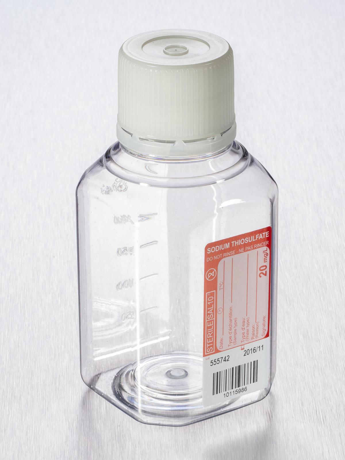 Corning® Gosselin™ Water Sampling Octagonal PET Bottle, 250 mL