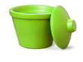 Corning® Ice Bucket with Lid, Round, 4L, Lime Green