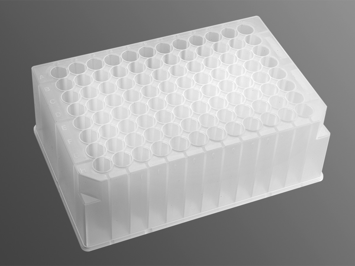 Sterile,2.2mL 96-Well Deep Well Plates Square Wells V Bottom,Deep Well Plates Pack of 5