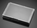 Falcon® 384-well Optilux Black/Clear Flat Bottom, TC-treated Microtest Microplate, with Lid, Sterile, 5/Pack, 50/Case