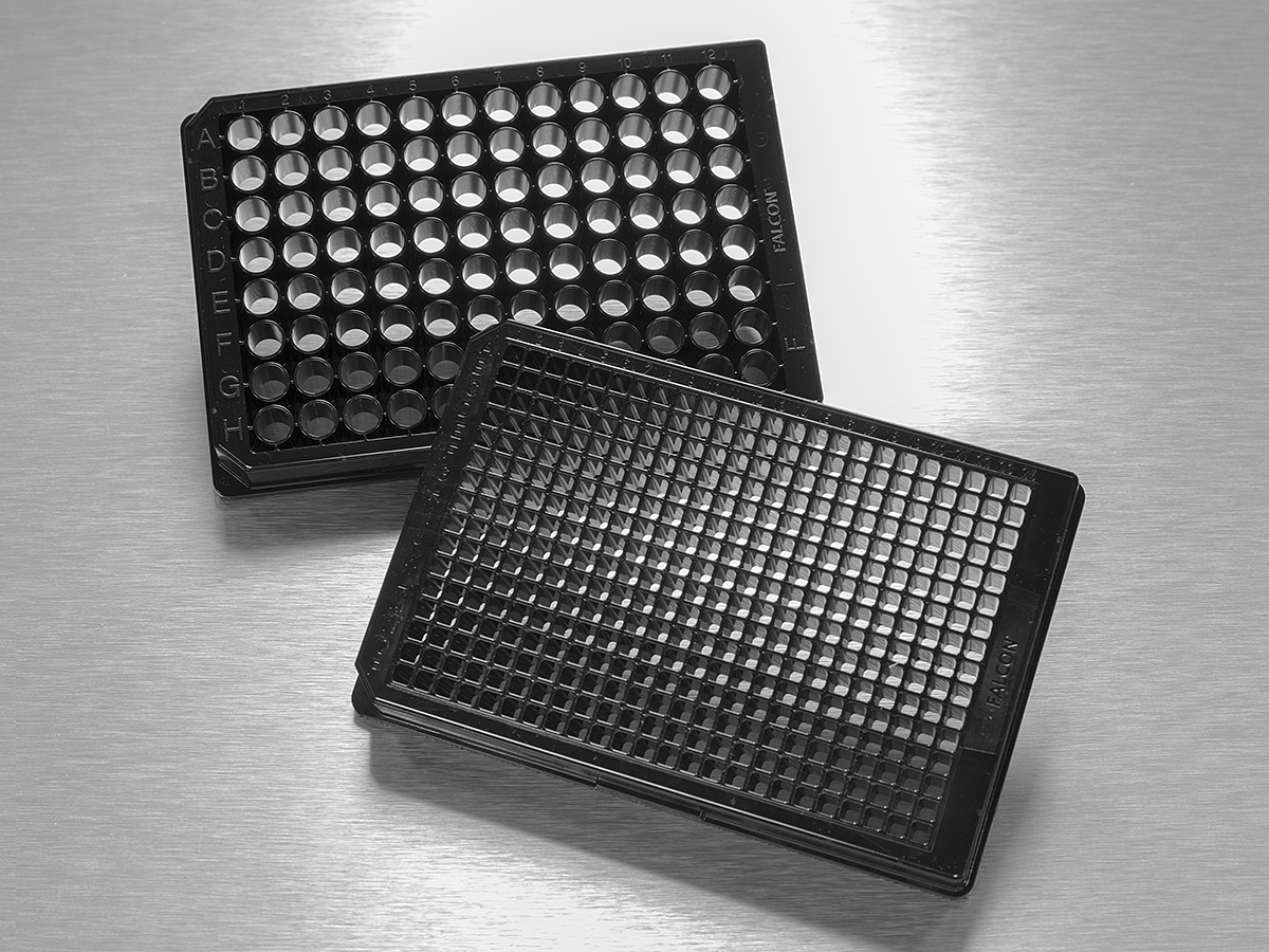 FalconR 96 Well Black Clear Flat Bottom TC Treated Imaging Microplate With