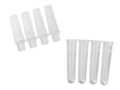 Axygen® 0.1mL Polypropylene PCR Tube Strips and Caps, 4 Tubes/Strip, 4 Caps/Strip, Clear, Nonsterile