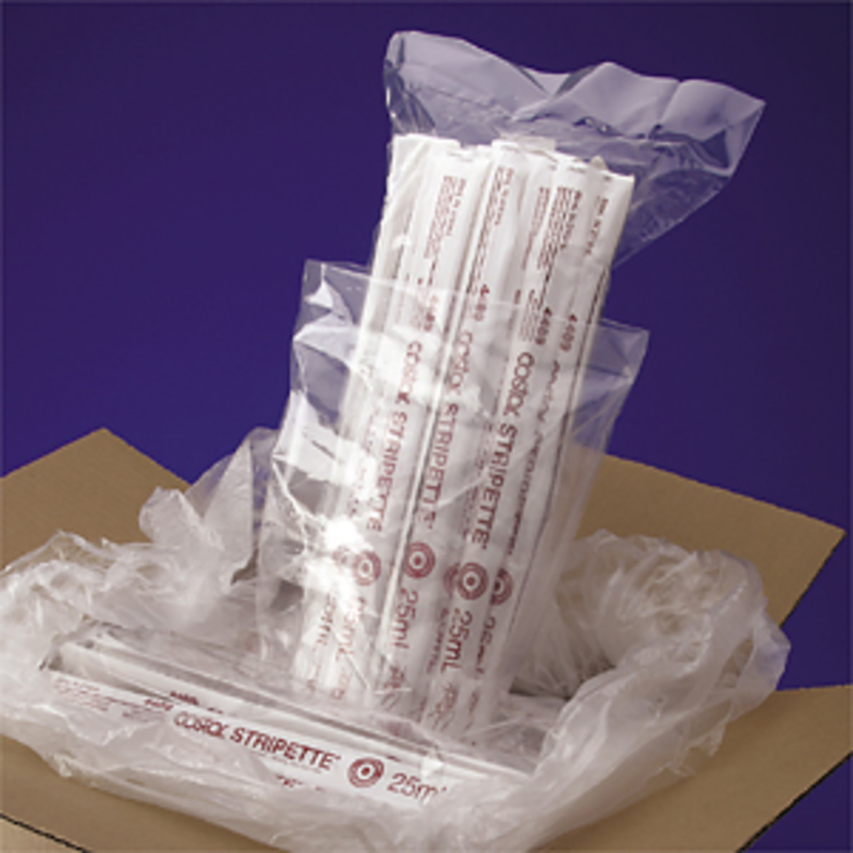 Triple-bagged Packaging for Stripette™ Serological Pipets