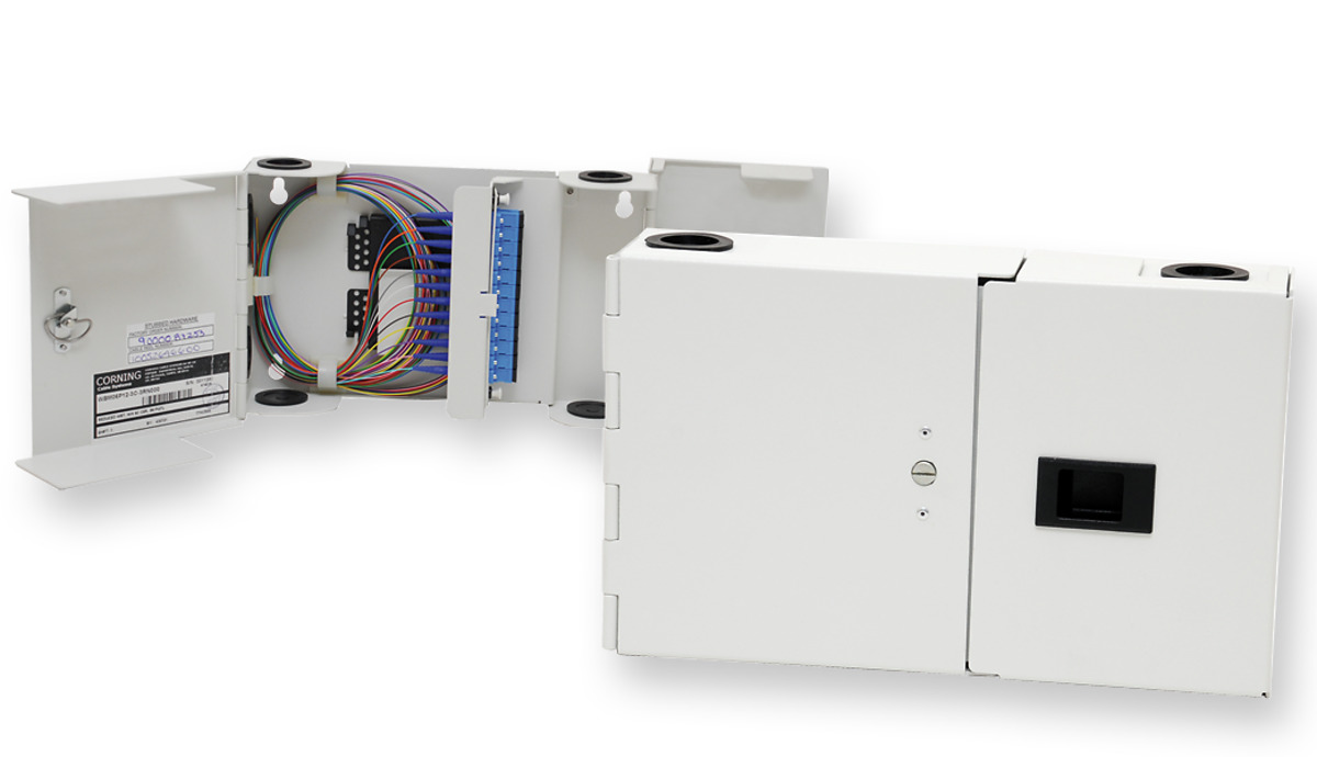 Mini Wall Mountable Building Terminal Wbm With Adapters Number Of Adapters Optical Communications Nafta B2b Site Corning