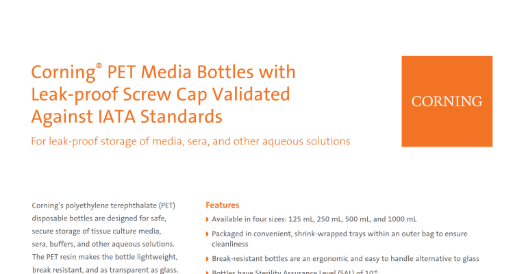 PET Bottles Document Preview