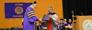Dr. Beall Receives Honorary Doctorate at Alfred University