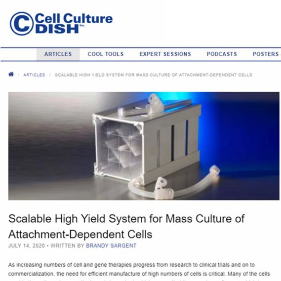 CellCube Cell Culture Dish Article Preview