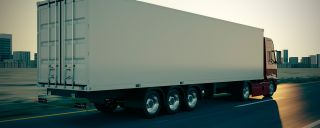Semi-Truck for Transporting Corning Goods