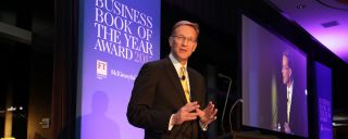 Weeks was the keynote speaker at the Financial Times/McKinsey Business Book of the Year Award 2105.