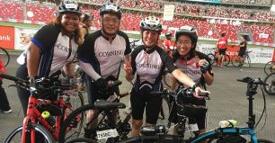 Corning Singapore Bikes for Charity