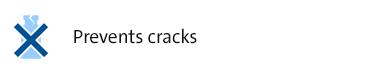 Prevents Cracks